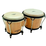 Cosmic Percussion Tunable Bongos Natural Wood with Bag