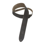 Levy's Black Leather Suede Guitar Strap