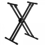 On Stage Double X Heavy Duty Deluxe Keyboard Stand