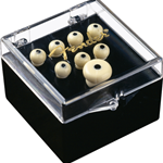 Fender 0990402000 Bridge Pin Set, Ivory with Black Dot (7)