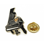Aim Black & Gold Grand Piano Pin