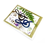 Music Treasures G-Clef Collage Fern Note Cards 8 pack
