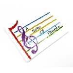 Music Treasures Rainbow Music Staff, A Note of Thanks Notecards Pack of 8
