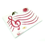 Music Treasures Red G-Clef Paper Notecards 8 pack