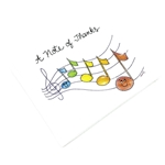 "Music Treasures Happy Notes ""A Note of Thanks"" Notecards 8 pack"