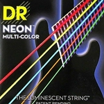 DR Strings Hi-Def Neon Multi-Color 5-String Bass Strings Medium