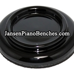 Jansen Small Wood Caster Cup - Polished Ebony Finish