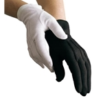 Dinkles Black Cotton Gloves Small