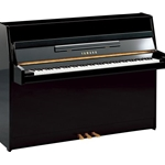 "Yamaha B1PE b Series 43"" Continental Style Acoustic Upright Piano with Bench, Polished Ebony"