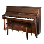 "Yamaha P22MSW Professional Collection 45"" Acoustic Upright Piano with Bench, Satin Walnut"