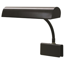 House of Troy Black 2 Bulb Gooseneck Grand Piano Lamp